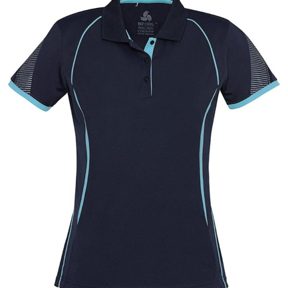 Ladies Polo Navy Sky